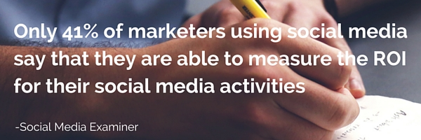 only 41% say that they are able to measure the ROI for their social media activities
