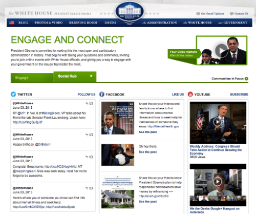 Whitehouse.gov Social Hub