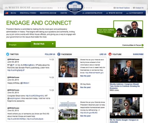 Whitehouse.gov Social Hub
