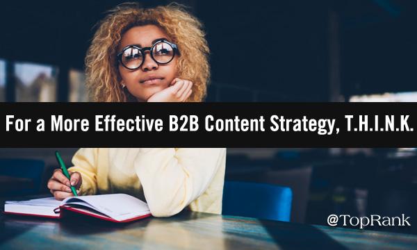 T.H.I.N.K. B2B Content Marketing Strategy