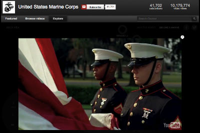 U.S. Marines YouTube