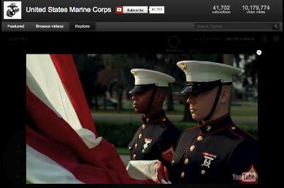 U.S. Marines YouTube