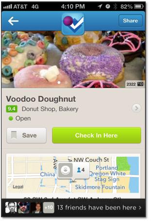 Voodoo Doughnuts Foursquare