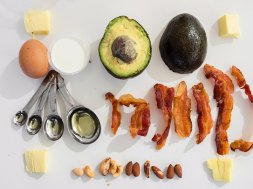 keto diet food bacon avocado
