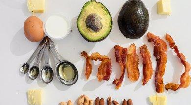 keto diet food bacon avocado