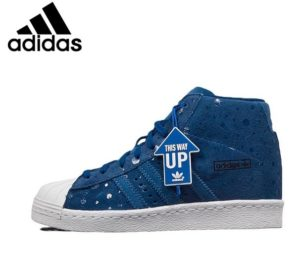 Original Adidas Superstar Women's High Top Skateboarding Shoes Sneakers
