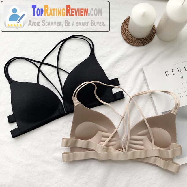 Fashionable Casual Beige and Black Bandage Free Size Korean Bra