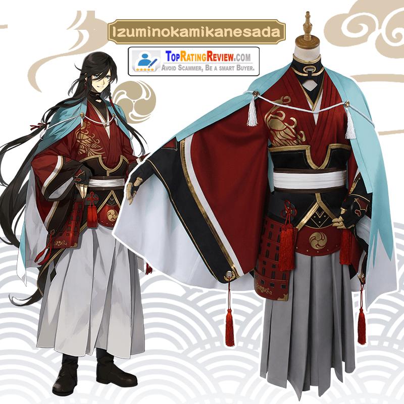 Touken Ranbu anime cosplay costumes - Izuminokami Kanesada Cosplay Kimono Anime costumes for Men