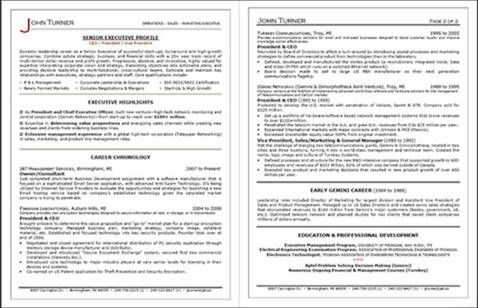 review of resume professional writers