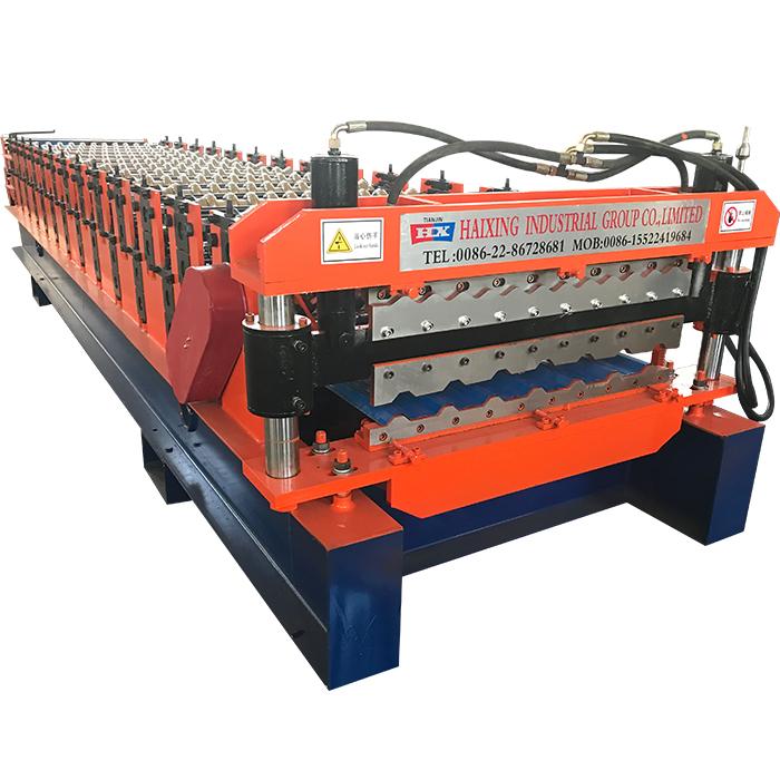 roof roll forming machine hydraulic decoiler steel purlin machine haixing