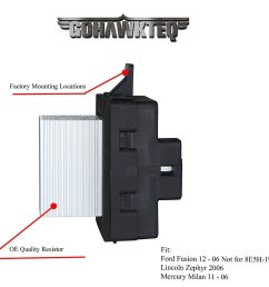 blower motor resistor g020r for ford fusion lincoln mkz zephyr  [ 1500 x 1335 Pixel ]