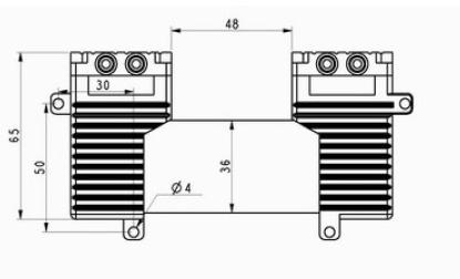 Rotary blade vacuum pump,membrane vacuum pump,dual- heads