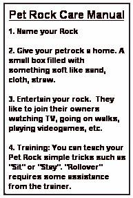 Care Your Pet Rock Manual: Software Free Download