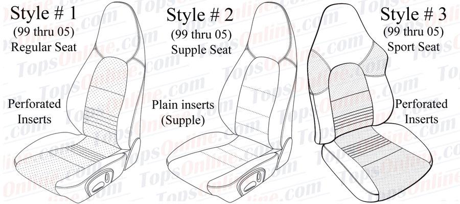 1999 thru 2005 Porsche 911, 996, & 997 Upholstery Seat Covers