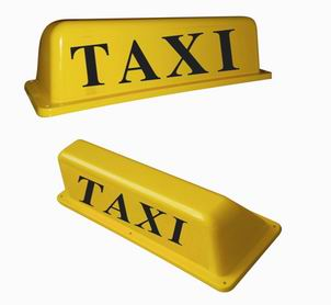 taxi cab top lights