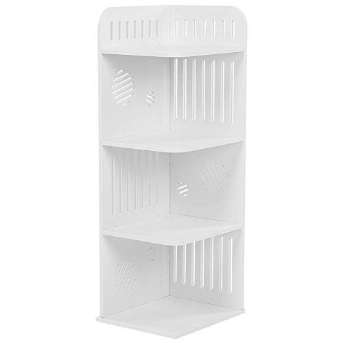 EBTOOLS 4-Tier Storage Shelf Wood Plastic Board Corner Rack Baroque Style Display Storage Holder Bathroom Organizer for Home Decor Towels Soap Shampoo Lotion Accessories Toiletries Storage Holder