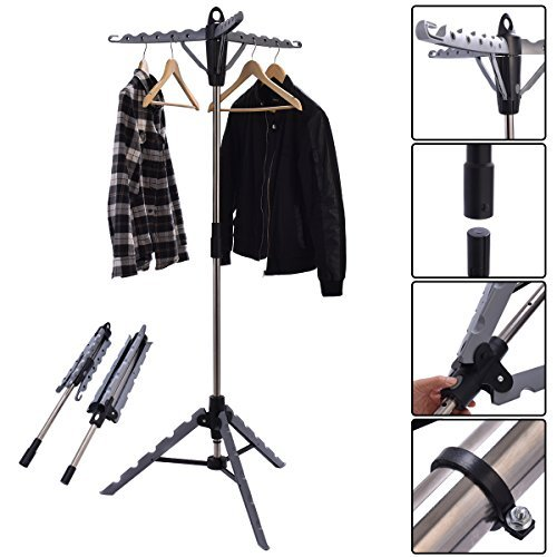 hello world1 New Clothes Hanger Drying Portable Multifunctional Retractable Laundry Racks Tripod