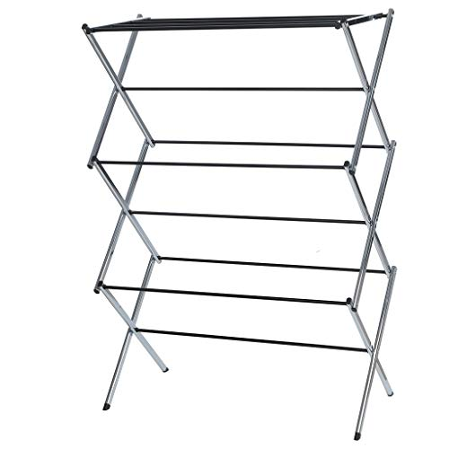 Folding Laundry Drying Rack Ship from USA -Cnebo Stainless Steel Clothes Drying RackAdjustable Gullwing Indoor Outdoor Clothing Holder Stand