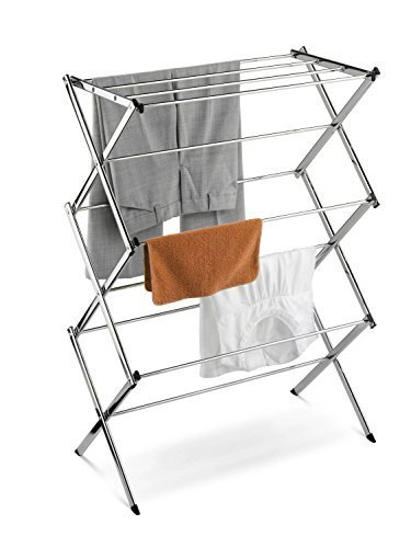 Home-it Folding Clothes Drying Rack Laundry Drying Rack for Clothes Rack Gray