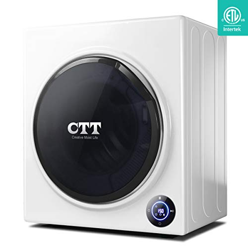 CTT 13 Lbs Capacity35 CuFt Intelligent Compact Portable Tumble Clothes Laundry Dryer Intelligent Humidity Sensor - White