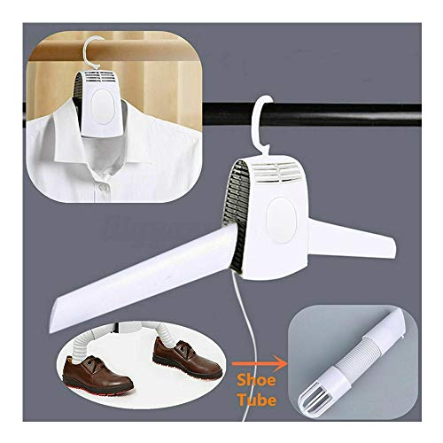 Electric Clothes Drying Rack - Clothes Hanger Dryer Portable Clothes Dryer Fast Drying Cloth Suit Hanger Dryer Electric Portable Travel Household Dryer for Trip Home with Shoes Dryer