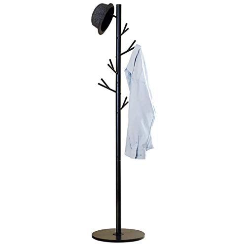 MOJ-YJ Bedroom Coat Rack Iron Adult Hanging Clothes Rack Non-Slip Floor Home Living Room Vertical Coat Rack