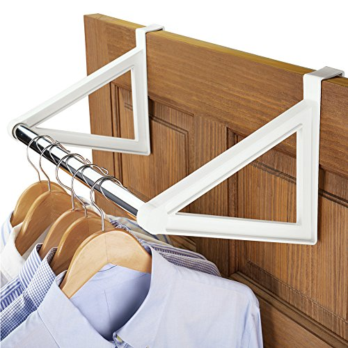 Over the Door Closet Bar Hanging Clothes Rack No Hardware Required
