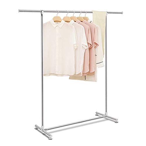 Tangkula Garment Rack Stainless Steel Clothing Storage Organizer Hanging Rack Commercial Grade Clothes Rack Silver