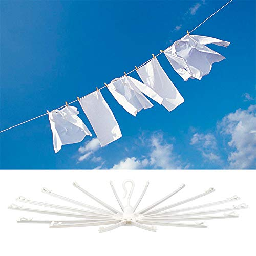 Ejoyous Folding Clothes Rack Portable Laundry Drying Rack Space Saving Collapsible Towel Holder Umbrella Shape for Home Indoor Outdoor Use