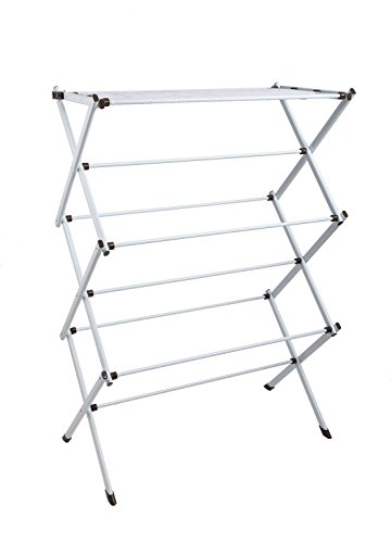 Finnhomy Premium Folding Clothes Drying Rack Clothes Dryer for Laundry and Home Rust-Resistant 41 Inch
