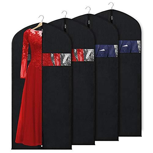 Zilink Garment Bag Suit Bag for Storage and Travel 60-inch Dust-Proof Protector Suit Cover for Suit Jacket Dress Coat Long Dresses
