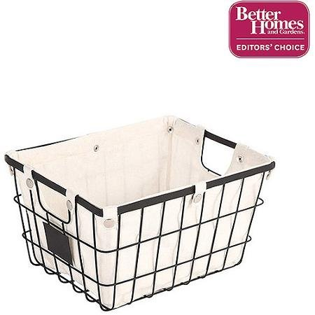Better Homes and Gardens Small Wire Basket with Chalkboard 4 Piece