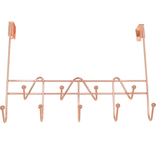 Superbpag Over The Door Hooks Rack Organizer for Hanging Coats Hats Robes Clothes or Towels - 9 Hooks