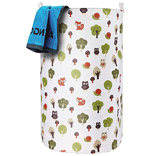 ASMOTIM 256 Foldable Laundry Hamper Extra Large Tall Collapsible Laundry Basket with Handles Waterproof Coating Dirty Clothes Storage Organizer Baskets Folding Toy Collection