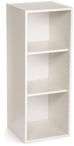 ClosetMaid 8987 Stackable 3-Shelf Organizer White