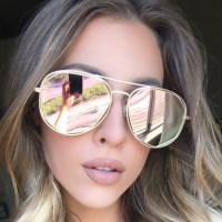 Rose Gold Mirrored Sunglasses | Top Sunglasses