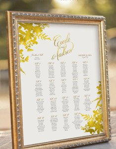 also gold themed wedding seating plans rh toptableplanner