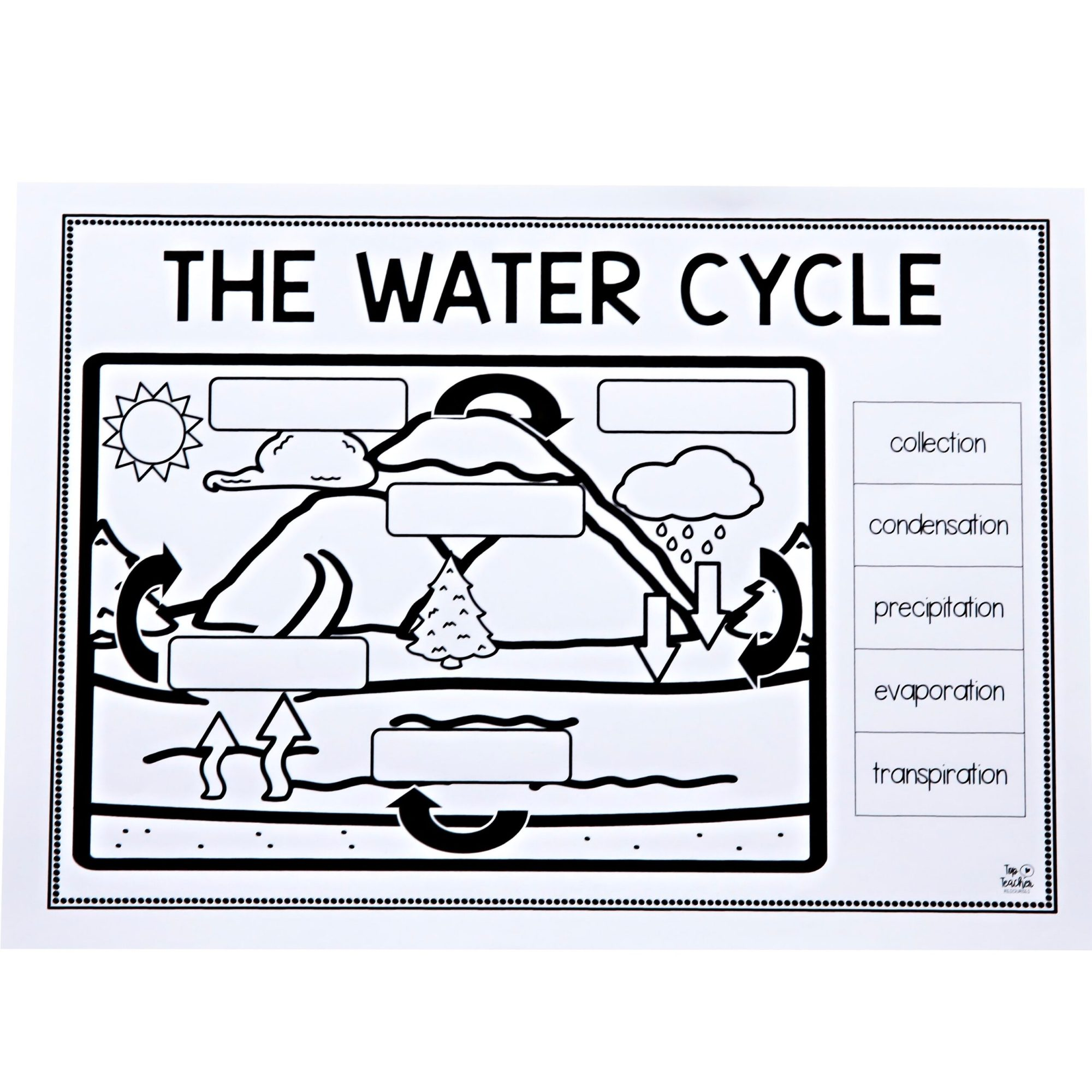 hight resolution of Teaching Water Cycle Worksheets   Printable Worksheets and Activities for  Teachers