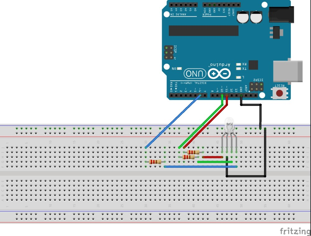 medium resolution of arduino rgb led circuit