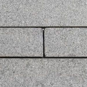 graniet strips in waalformaat met een gevlamde afwerking