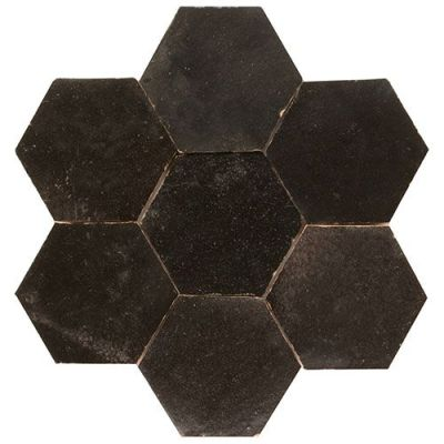 Hexagonale zelliges in zwart