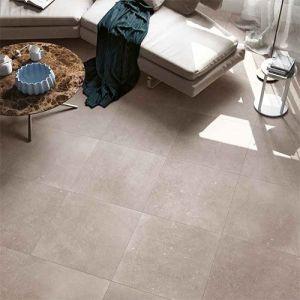 Beige arduin vloertegels in 60x60cm. Een iets anders dan gewone blauwsteen tegels.