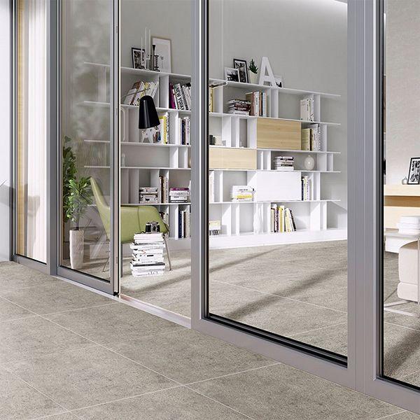 K6 terrastegel silver grey
