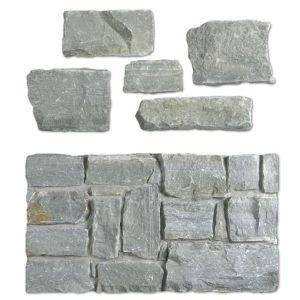 natuursteen stapelstenen in grijze leisteen. Dit zijn stenen om te stapelen.