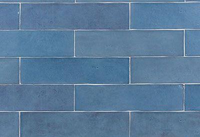 Solden in wandtegels van Revoir Paris in kleur bleu lumiere