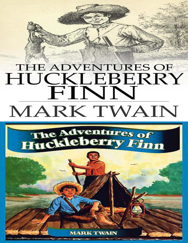 the Adventures of Huckleberry Finn book cover photo