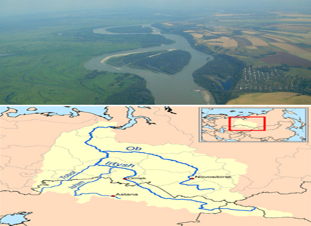Ob Irtysh River map