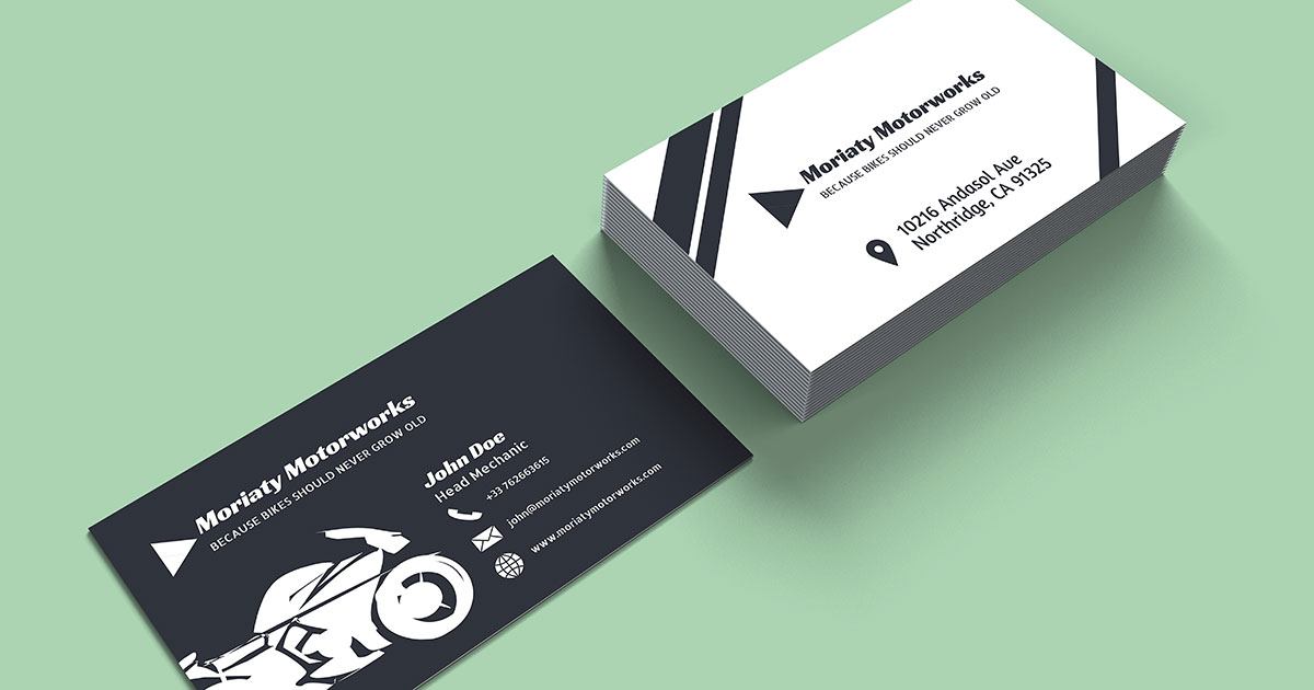 Motorcycle Mechanic Business Card