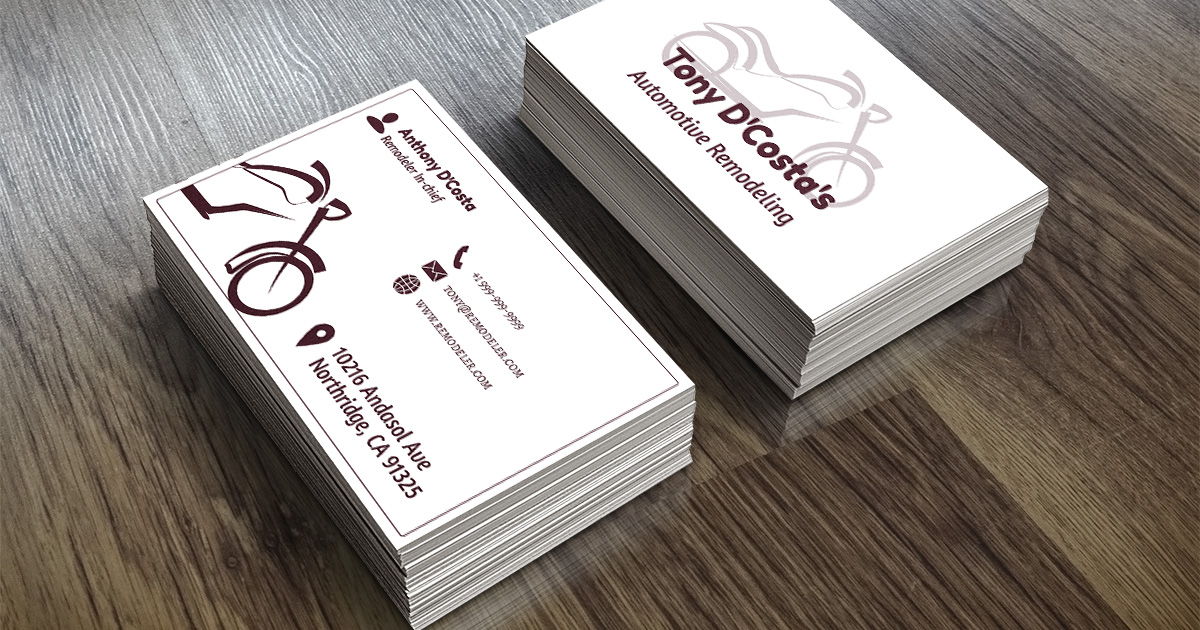 Motorcycle Remodeling Business Card