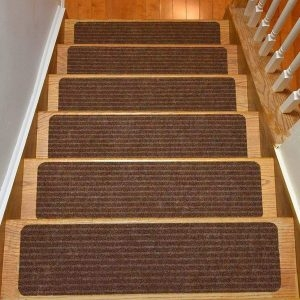 Top 10 Best Non Slip Stair Treads In 2020 Reviews Buyer S Guide   Gloria Rug Stair Treads   Rubber Backing   8.5 X26   Decor Rugs   Overstock   Area Rug